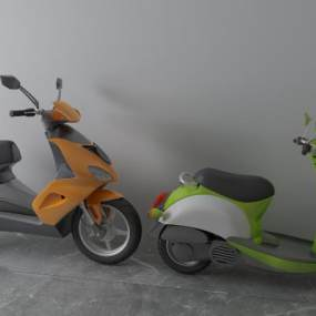 现代电动车3D模型【ID:435597613】