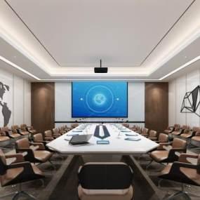 现代会议室 3D模型【ID:937160128】