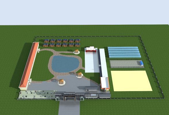 現代山莊建筑3D模型【ID:243936033】
