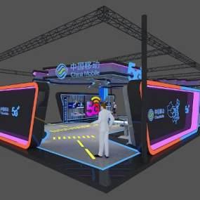 现代移动5G展厅设计3D模型【ID:153442294】