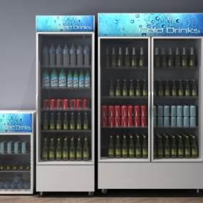 现代电器冰箱冰柜3D模型【ID:431320535】