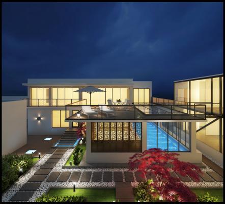 室外庭院3D模型【ID:132748326】