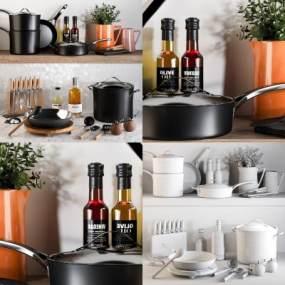现代厨房用品3D模型【ID:249026864】
