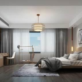 日式卧室 3D模型【ID:541384268】