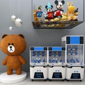 现代儿童抓娃娃机3D模型【ID:437125473】