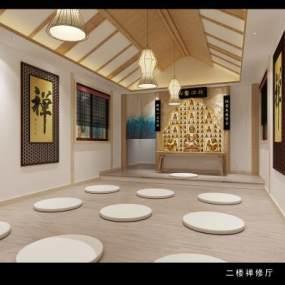 日式风格禅修室3D模型【ID:944674927】