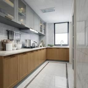 现代厨房3D模型【ID:531996311】