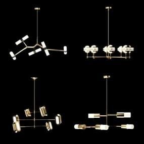現代輕奢吊燈3D模型【ID:749071889】