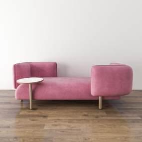 北欧三人沙发3D模型【ID:636039697】