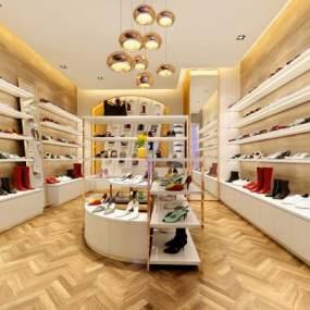 现代鞋店商铺3D模型【ID:935352844】