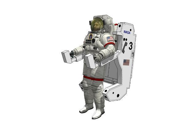 現代天空宇航員SU模型【ID:146866662】