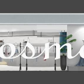 現代輕奢服裝店3D模型【ID:152361099】