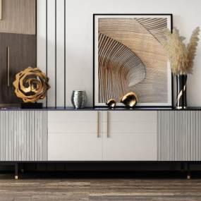 现代装饰柜2001063D模型【ID:952996925】