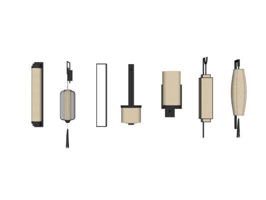 新中式壁燈SU模型【ID:445024244】