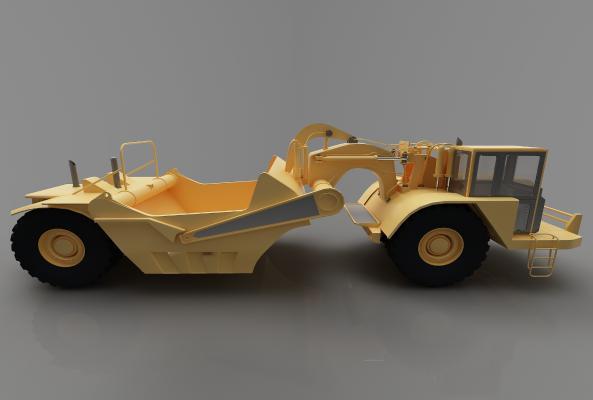 现代风格推土车3D模型【ID:443547728】