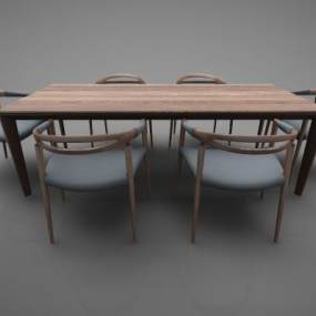 新中式风格餐桌3D模型【ID:843537869】