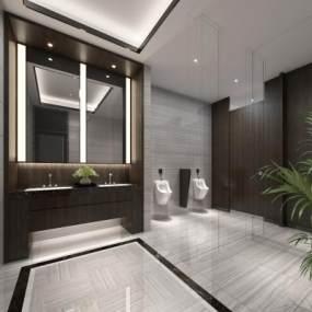 現代酒店衛生間3D模型【ID:434500151】