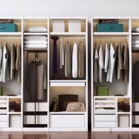 现代衣柜3D模型【ID:144503473】