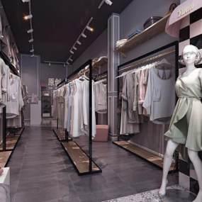 北欧服装店3D模型【ID:143549079】