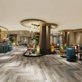 现代酒店大厅3D模型【ID:732148564】