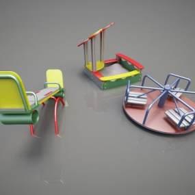 现代游乐设备3D模型【ID:434794100】