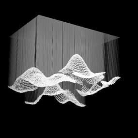 现代吊灯3D模型【ID:752401885】