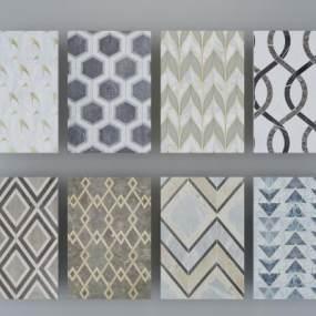 现代地毯3D模型【ID:333703280】