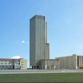 新古典石材办公楼3D模型【ID:152995939】