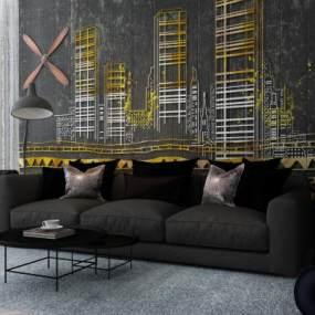现代沙发3D模型【ID:633202615】