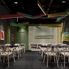 現代餐廳3D模型【ID:653261203】