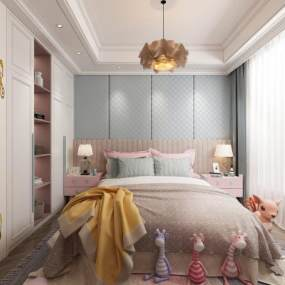 现代轻奢卧室3D模型【ID:554053248】
