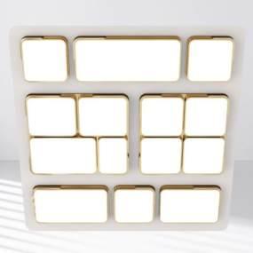 现代金属吸顶灯 3D模型【ID:841753056】