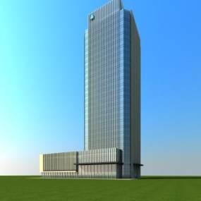 现代高层办公楼3D模型【ID:130862987】