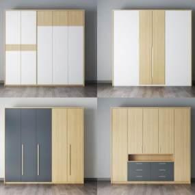 現代衣柜3D模型【ID:146581476】