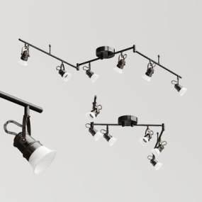 工业风折枝射灯3D模型【ID:835412375】