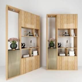 现代木质玄关柜 3D模型【ID:141315098】