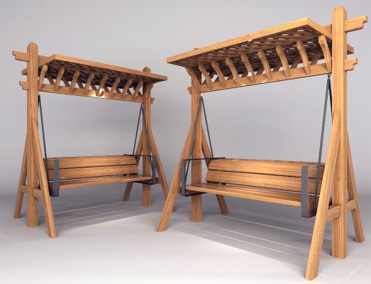 現代秋千椅3D模型【ID:445779199】
