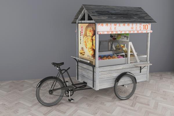 现代台湾小吃车3D模型【ID:431069644】