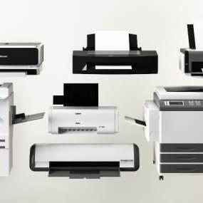 现代打印机复印机扫描仪组合 3D模型【ID:441293530】