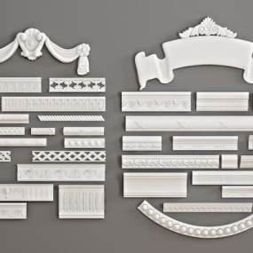 欧式石膏雕刻3D模型【ID:343519420】