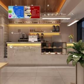 现代面包店3D模型【ID:631511489】