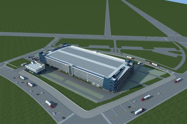 现代工业厂房3D模型【ID:246010372】
