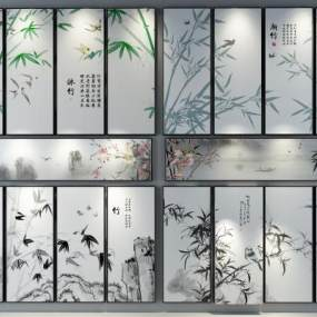 新中式装饰画3D模型【ID:233177968】