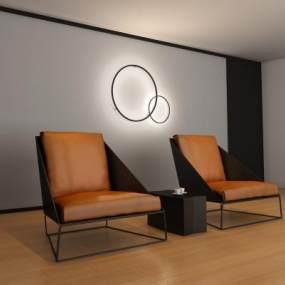 现代沙发时尚沙发单人沙发3D模型【ID:631490441】