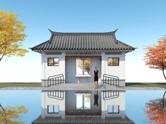 中式公厕3D模型【ID:146174994】