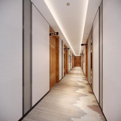 新中式酒店過道3D模型【ID:743410462】