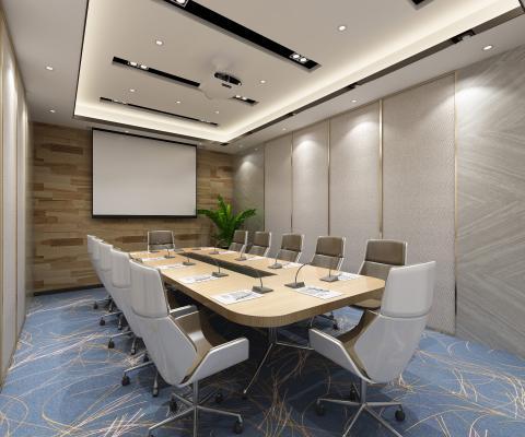 现代会议室 投影仪