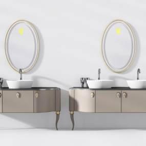 简欧浴室柜组合3D模型【ID:141413882】