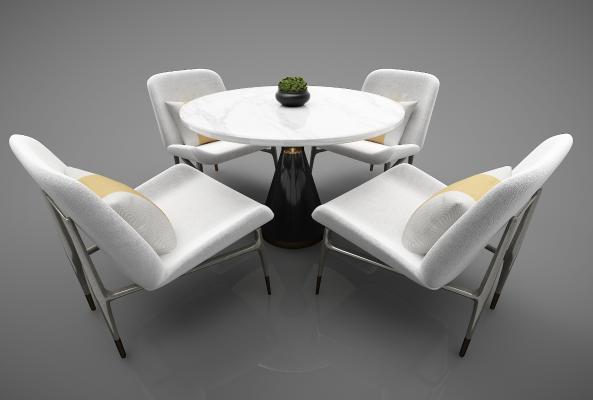 現代風格餐桌3D模型【ID:852540864】