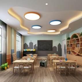 现代幼儿园教室3D模型【ID:935944648】